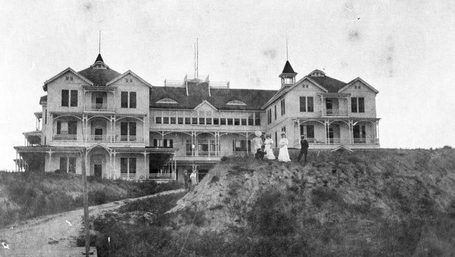 Elihu Ropes' Alta Vista Hotel, a luxury resort patterned after one in Santa Monica, Calif., was built at Three-Mile Point in 1890. The old derelict burned in a spectacular fire in 1927.