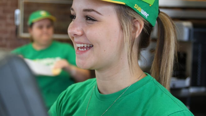 Hannah Mills says she found a job with Subway to support herself after leaving her father's home. The 17-year-old teen was court-ordered to live with her estranged father, who forced her to attend a California reunification program because he felt Hannah's mother had alienated her from him.