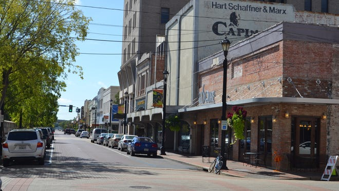 Downtown Alexandria's 3rd Street, which has seen significant redevelopment in recent years.