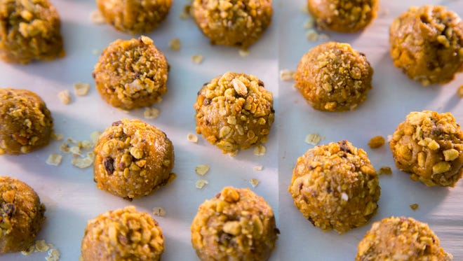 Robin Miller, chef and food writer, makes Honey Nut Balls with Granola on Aug. 31, 2017 in Scottsdale.