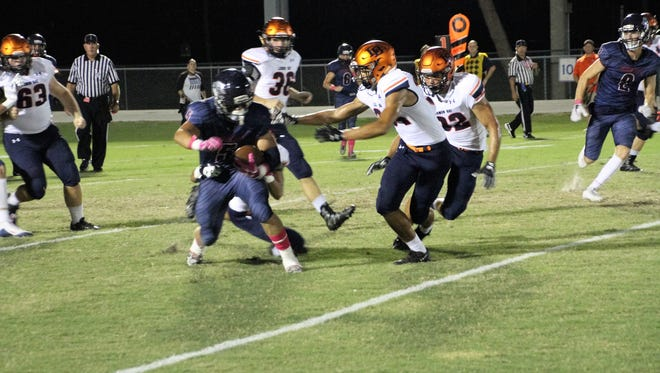 Action from the Friday, Oct. 6, 2017 high school football game between Lemon Bay and Estero.