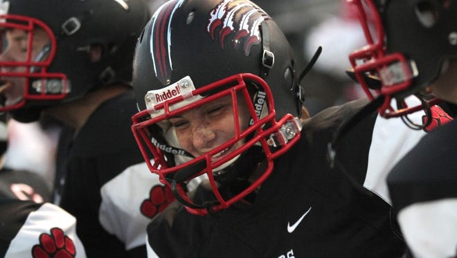 Junior kicker Carly Stevens says football has become her favorite sport because of the way she has bonded with Crestview teammates.