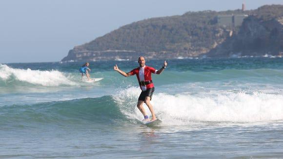 Robin Vandekreeke, surfer and owner of The Rashie Company
