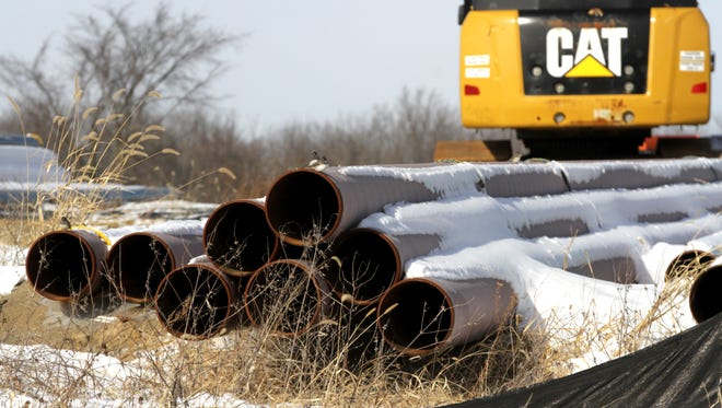 The Rover Pipeline, seen under construction Thursday on Olivesburg Road, cuts across both Richland and Ashland counties. The 713-mile pipeline will carry natural gas and is estimated to cost $4.2 billion.