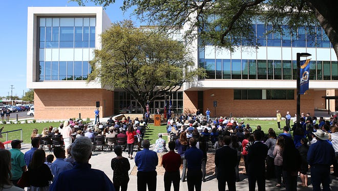A grand opening and ribbon cutting ceremony was held at Angelo State University Wednesday, April 4 in recognition of the Archer College of Health and Human Services building.
