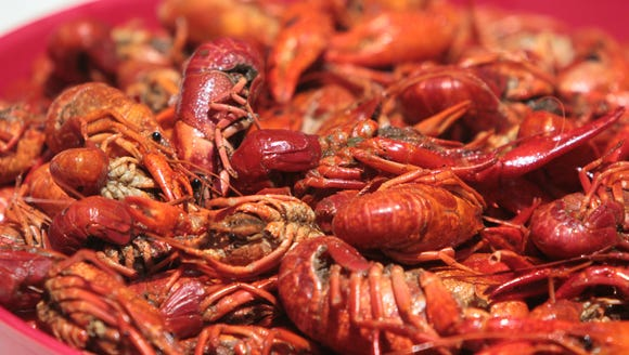 Boiled crawfish are pictured in this Advertiser file photo