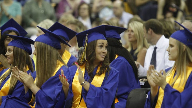 Clarksville Academy graduated 56 seniors in a ceremony Friday evening.