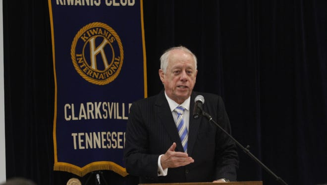 Senate candidate and former Gov. Phil Bredesen spoke at the Kiwanis Club of Clarksville on Tuesday.