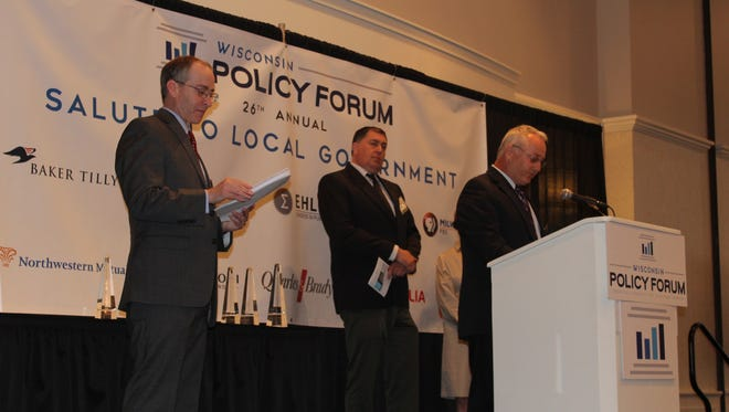 Sheboygan Falls School District and Bemis Manufacturing both received the Wisconsin Policy Forum award.