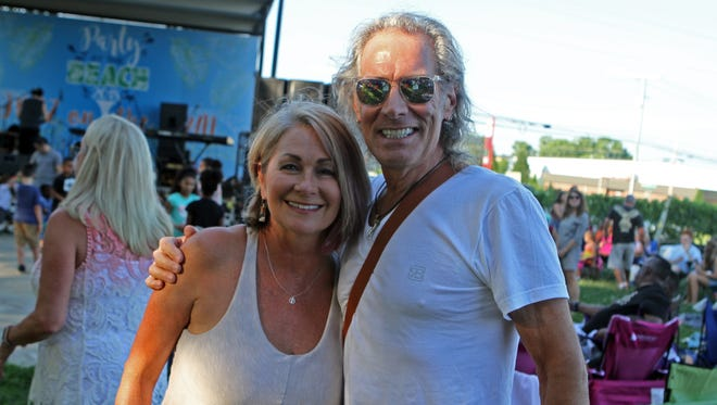 Terri Williams and Mike Bovenzi at Saturday's Jazz on the Lawn.