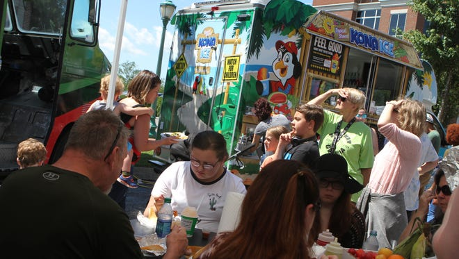 Clarksville's Downtown Market hosted a Food Truck Takeover on Saturday.