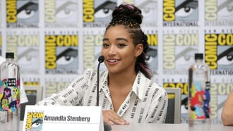 """Amandla Stenberg discusses her new movie """"The Darkest Minds"""" during a page-to-screen panel at Comic-Con."""