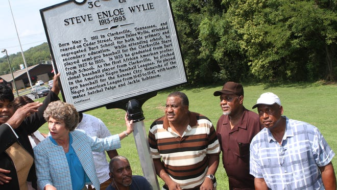 A historical marker was unveiled Saturday, Aug. 11, 2018 for Steve Enloe Wiley, the first black professional baseball player from Clarksville. He spent two years as a pitcher for the Kansas City Monarchs of the Negro Baseball League.