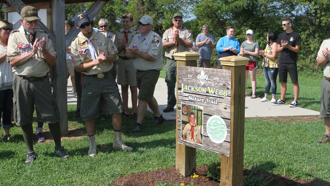 Hundreds came out to Pleasant View Community Park  Saturday monring for the dedication of the Jackson Webb Nature Trail.