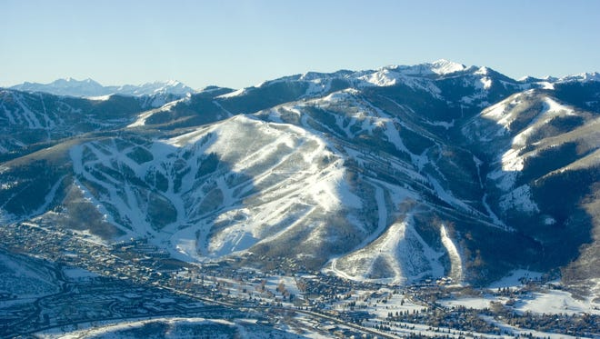 This undated photo provided by Vail Resorts shows the Canyons and Park City ski areas east of Salt Lake City, Utah.