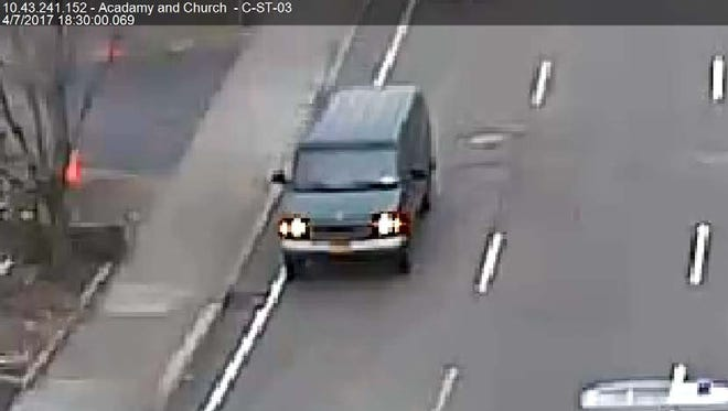 City police are looking for this van.
