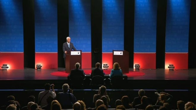 Debate footage still image.