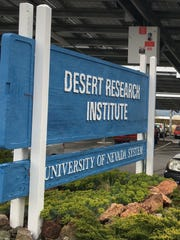 A sign at the Desert Research Institute in Reno.