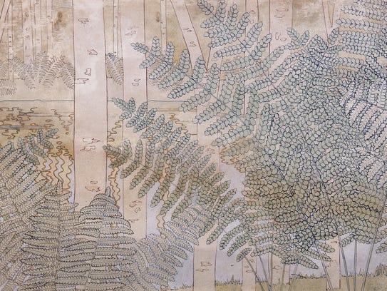 "George Mann Niedecken's ""Mural Study for the Avery"