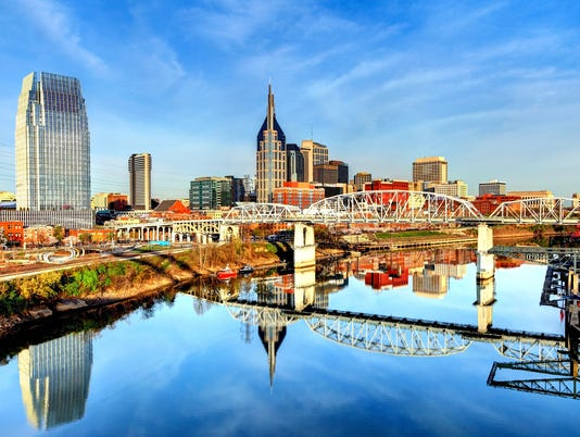 Downtown Nashville Tennessee Skyline