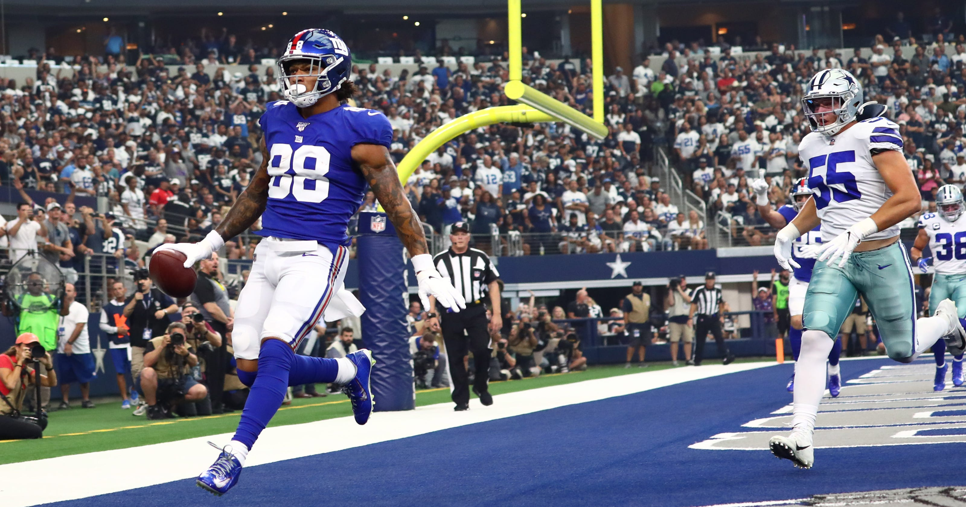 innovative design 14c6e ff57a Evan Engram: 'Working in silence' as blocker, making noise ...