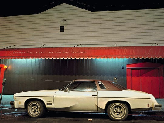"""This car, photographed by Langdon Clay, is on the cover of his book, """"Cars: New York City 1974-1976."""""""