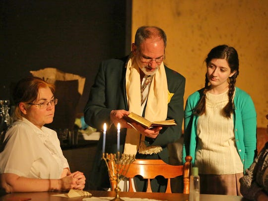 Lisa Osicky, from left, Victor Cardillo, Maria Cardillo and Lisa Velardi in Chapel Street Players' 'The Diary of Anne Frank.'