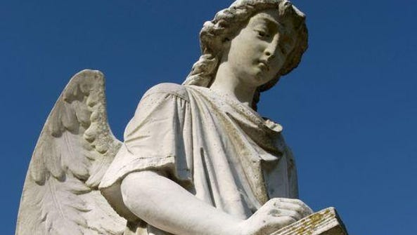 The Turning Angel in Natchez City Cemetery