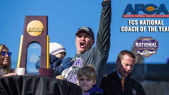 Mike Houston coached James Madison to a national football championship on Saturday.