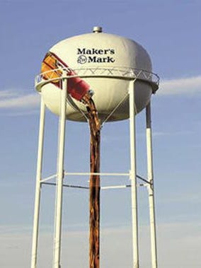 Lebanon tourism officials plan to turn the city's water tower into a photo op stop, featuring a Maker's Mark bottle.
