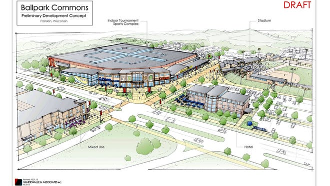 Franklin's proposed Ballpark Commons development is being opposed by the Greendale Village Board.