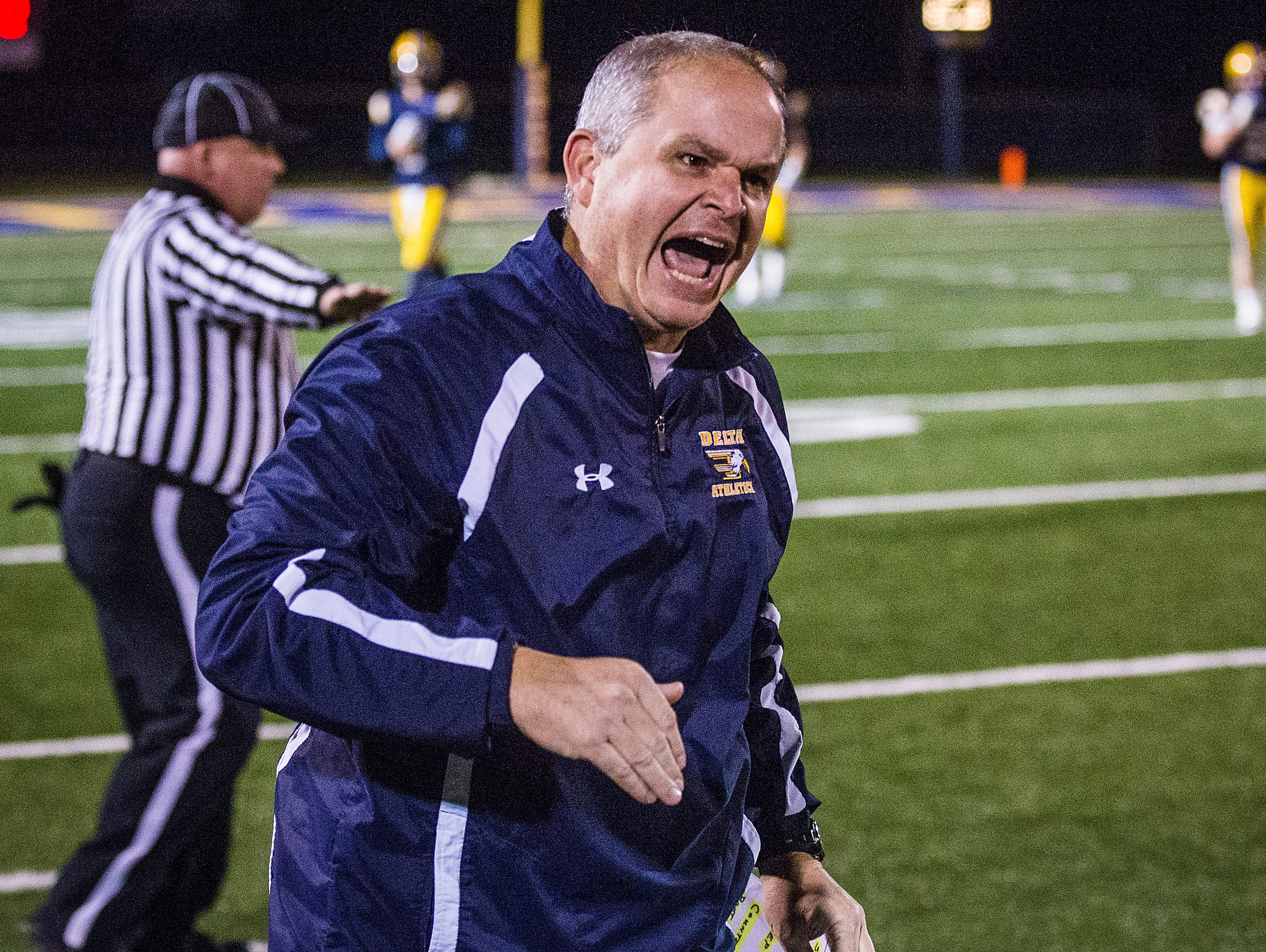 Delta defeated Pendleton Heights at Delta High School Friday, Nov. 6, 2015.