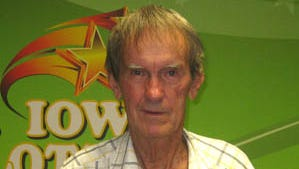 Robert Howe, who won $100,000 in an Iowa Lottery game.