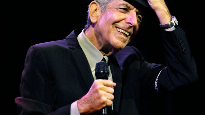 Leonard Cohen performs during the first day of Coachella in 2008.