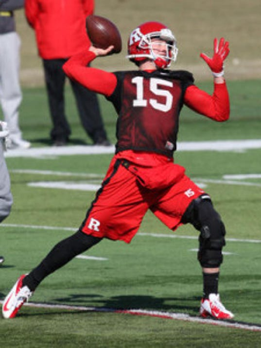 Quarterback Devin Ray is transferring from Rutgers, where he was a preferred walk-on, to Monmouth after spending his freshman season redshirting. (Mark Sullivan/MyCentralJersey.com)