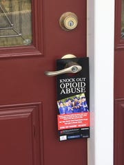 Volunteers will be distributing information to residents on their front doors about the dangers of opioids.