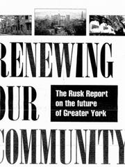 The cover of the 1996 Rusk Report published in the York Daily Record.