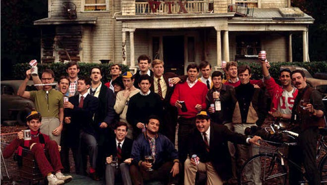 """The misfit members of Delta House. """"National Lampoon's Animal House"""" was released in 1978."""