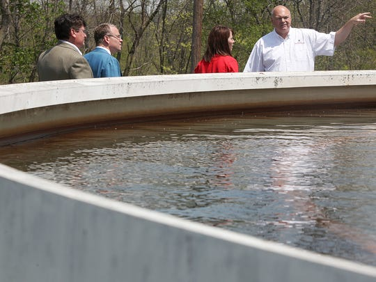 Indiana American Water Co.official Larry Wood leads