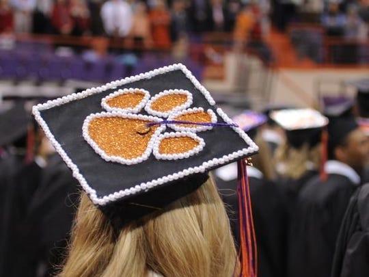 Clemson University graduates about 6,000 students every