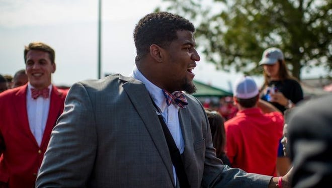 UL offensive lineman Mychael Quave is hoping for an improve performance in Ruston on Saturday.