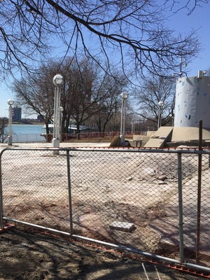 Repairs are under way at the Detroit Riverwalk and sections of Hart Plaza are closed.