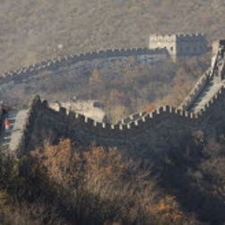Visitors walk along the Mutianyu section of the Great Wall in Beijing, China, 04 November 2014.