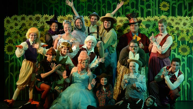 "Performers pose together on stage before rehearsing ""Shrek the Musical"" at Richmond Civic Theatre4."