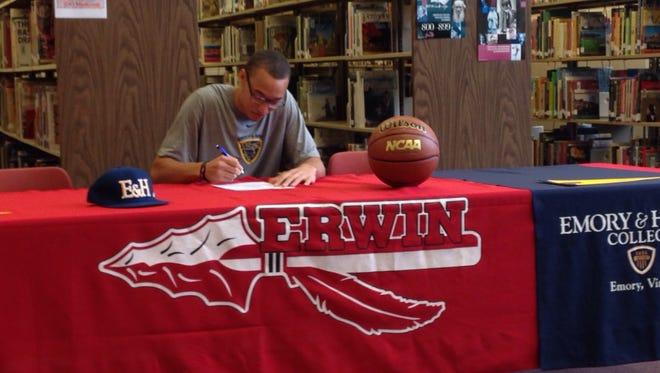 Erwin senior Alic Wynn will play college basketball for Emory & Henry.