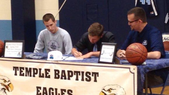 Temple Baptist senior Chapman Harwood has signed to play college basketball for Bob Jones (S.C.).
