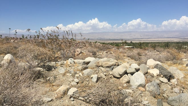 The site of The Boulders, a 45-home luxury development planned for the area near Chino Canyon Road in Palm Springs.