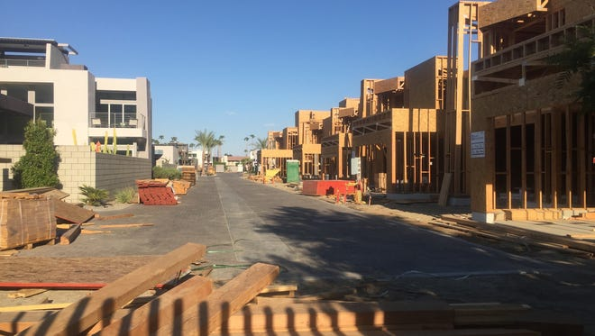 Sol, a housing development in Palm Springs, is shown under construction in this 2016 photo.