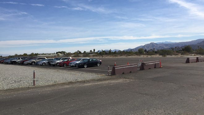 The temporary parking lot along Kirk Douglas Way at Palm Springs International Airport will open Dec. 21 to accommodate the heavy holiday traffic.
