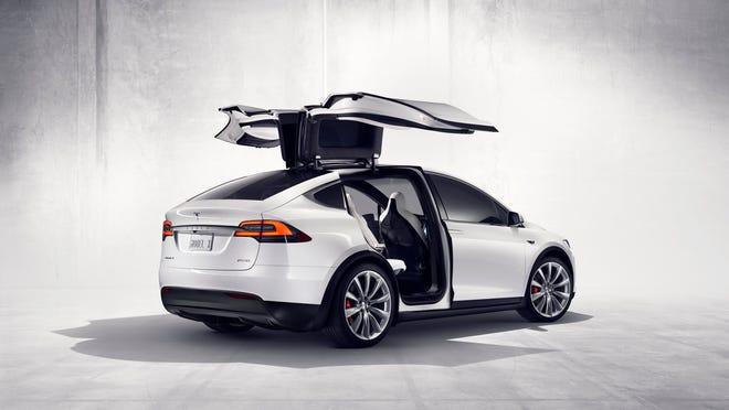 A Tesla Model X.